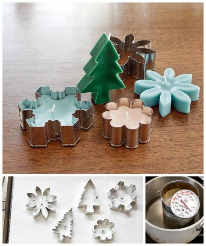 bougies-faites-dans-des-moules-a-biscuits-idee-geniale-comment-fabriquer-une-bougie-deco-noel-maison