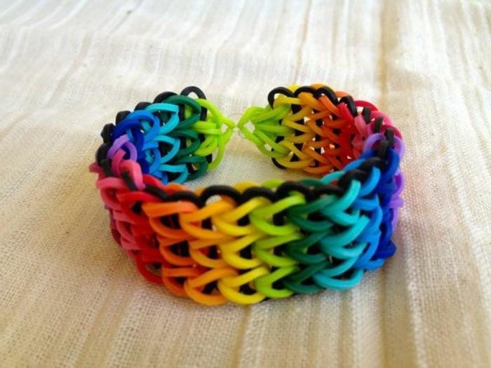 bracelet-loom-couleurs-arc-en-ciel-suggestion-magnifique-comment-faire-des-bracelets-en-elastique