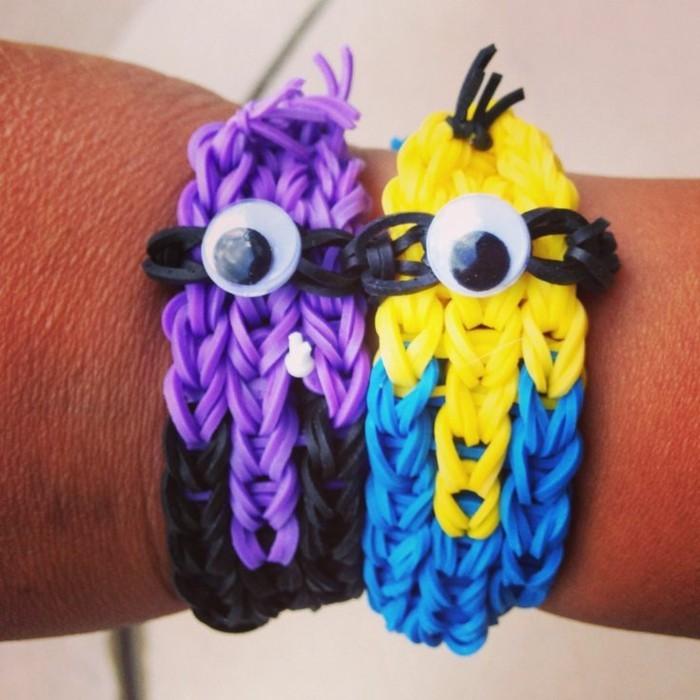 bracelets-en-plastique-modele-minnions-suggestion-comment-faire-un-bracelet-sympa