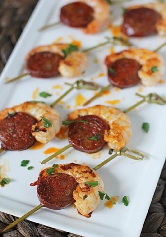 brochette-apero-fruits-de-mer-crevettes-au-chorizo