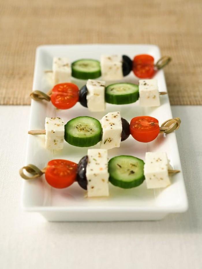 Brochette ap ro une s lection d 39 id es pour bien commencer votre repas - Idee toast apero dinatoire ...
