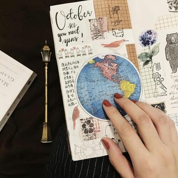 cahier-de-voyage-globe-du-monde-photo