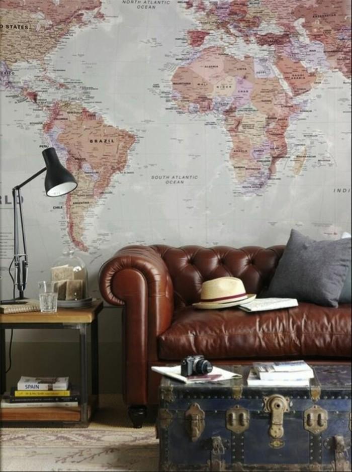canape-en-cuir-table-valise-carte-du-monde-murale-poster-geant