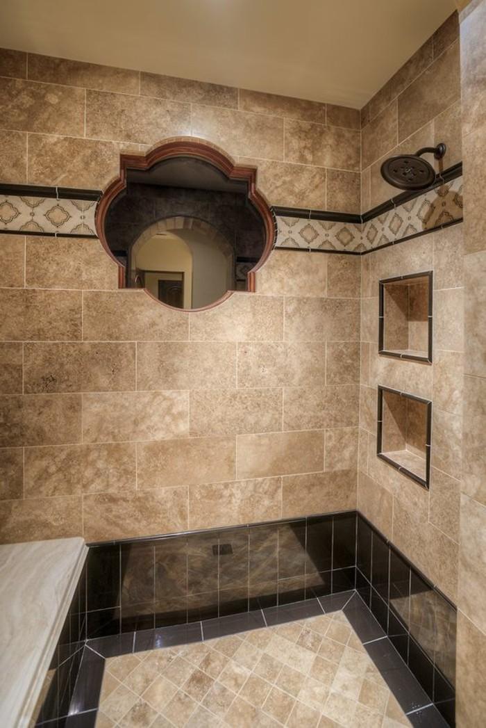 Carrelage contemporain salle de bain for Carrelage beige