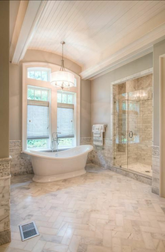 Beautiful salle de bain sol beige ideas for Sol salle de bain