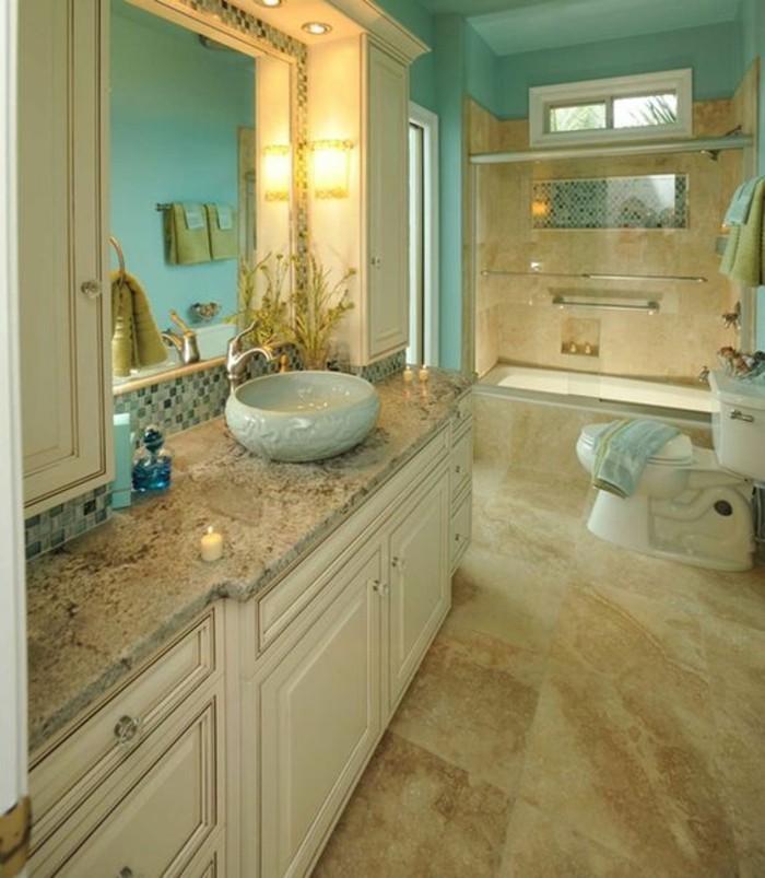 carrelage-salle-de-bain-sol-beige-murs-bleus-lavabo-rond-encastre
