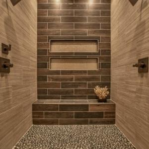 Le carrelage beige pour salle de bain - 54 photos de salles de bain beiges