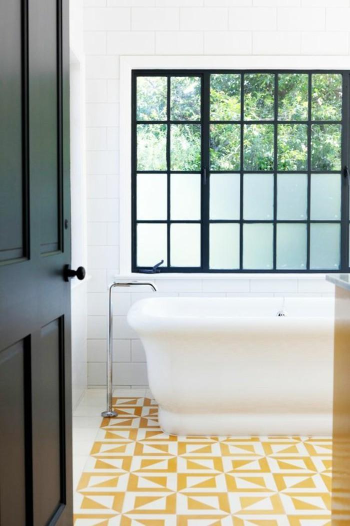 carrelage-stickers-en-motifs-couleur-moutarde-salle-de-bain