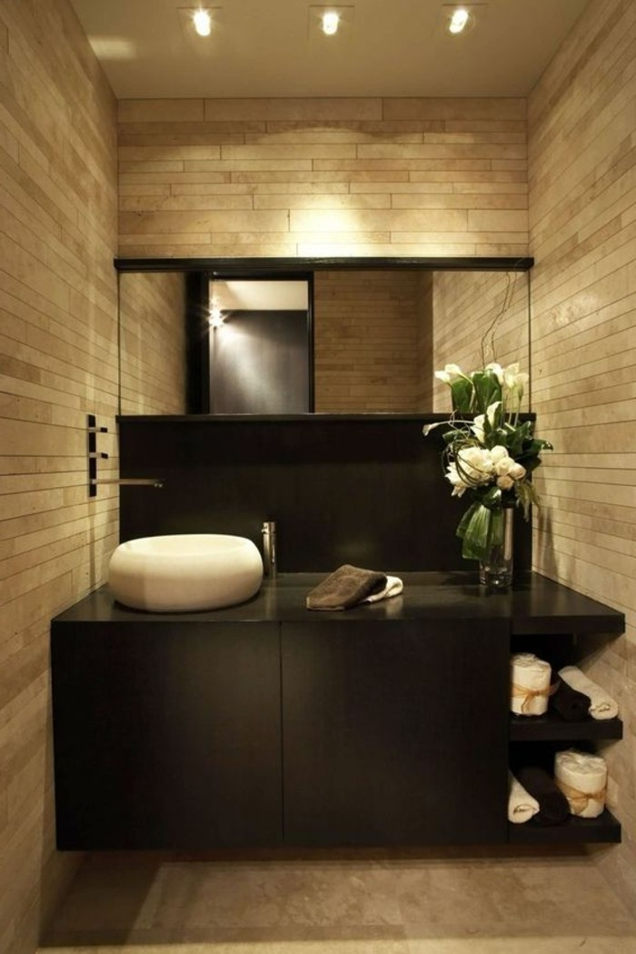 le carrelage beige pour salle de bain 54 photos de. Black Bedroom Furniture Sets. Home Design Ideas