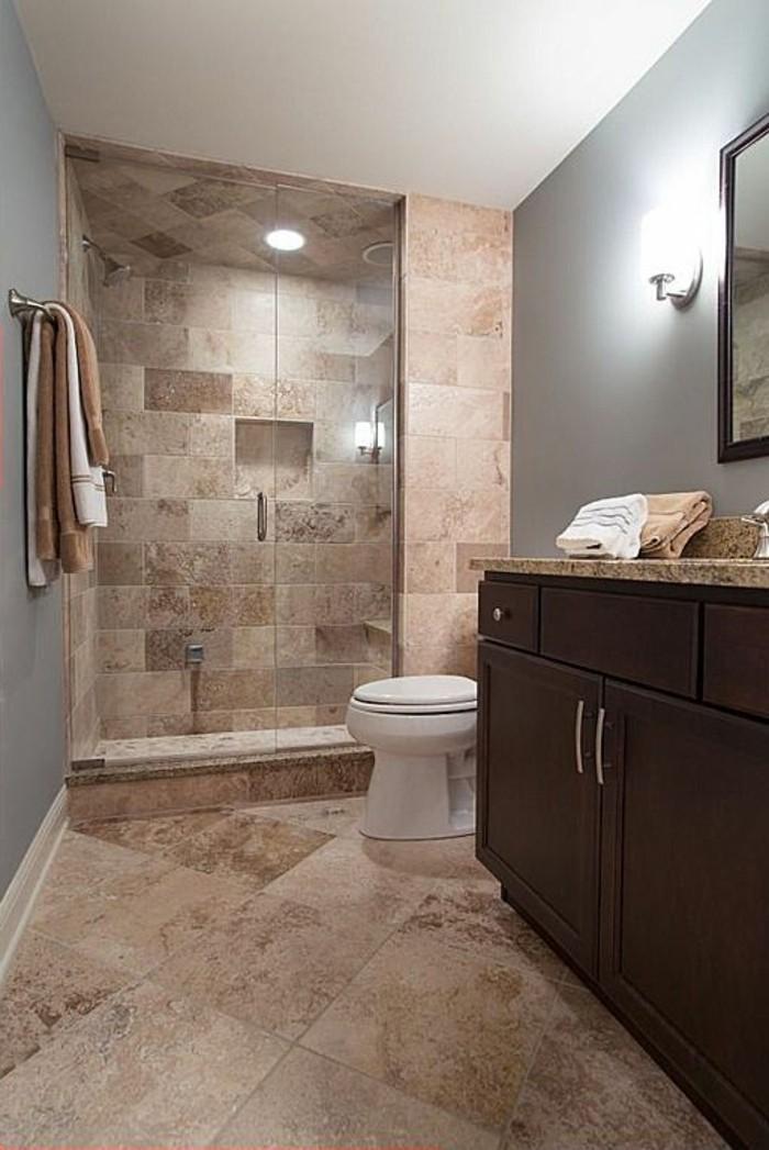 Le carrelage beige pour salle de bain 54 photos de for Peinture murale salle de bain
