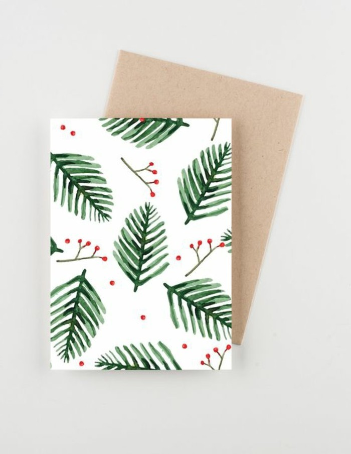 carte-de-noel-a-dessier-soi-meme-elements-decoratifs-festifs-branches-de-pin