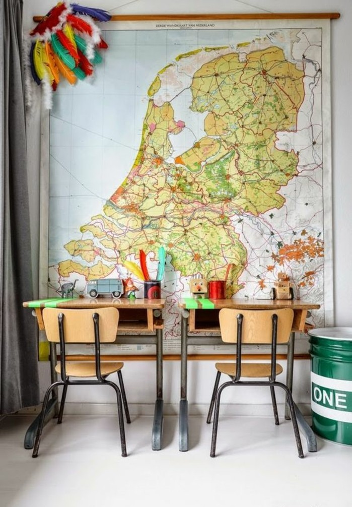 carte-du-monde-murale-continent-espace-bureau-pour-deux