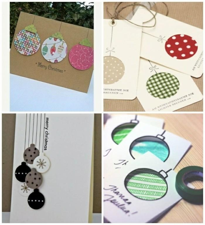 cartes-de-noel-a-fabriquer-avec-du-papier-des-motifs-de-boules-de-noel-sous-des-formes-differentes
