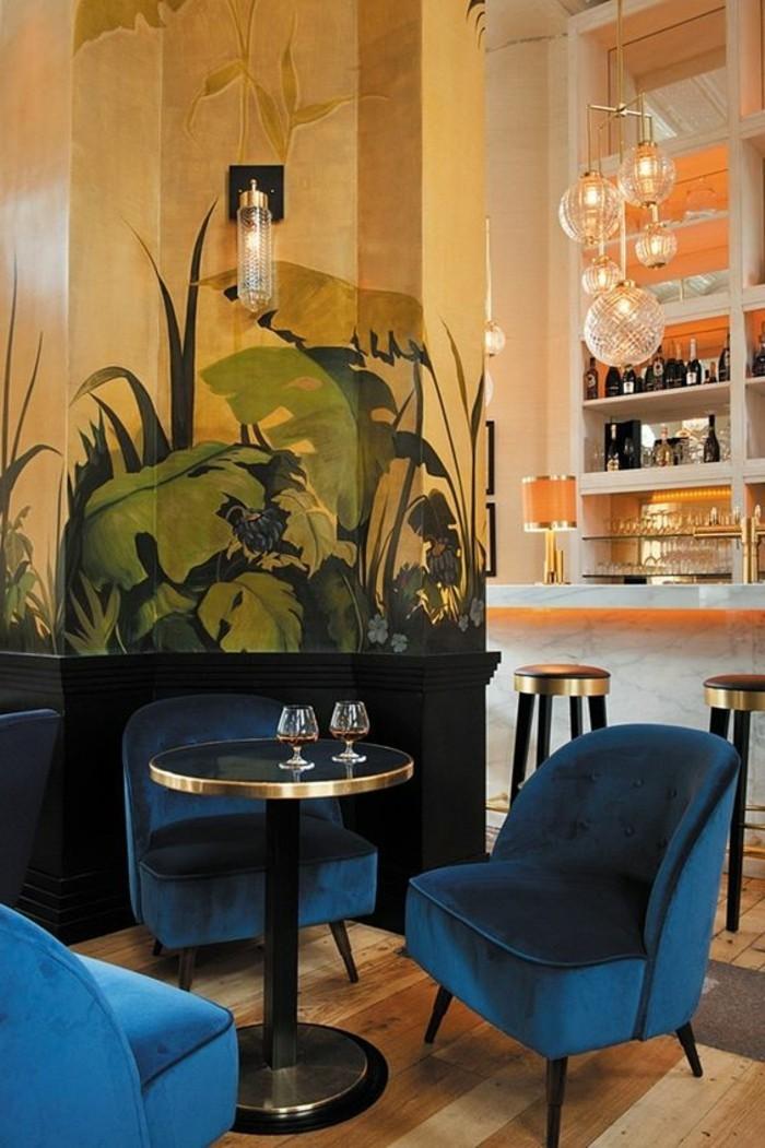 chaise-de-cuisine-moderne-chaises-bleues-de-cuisine