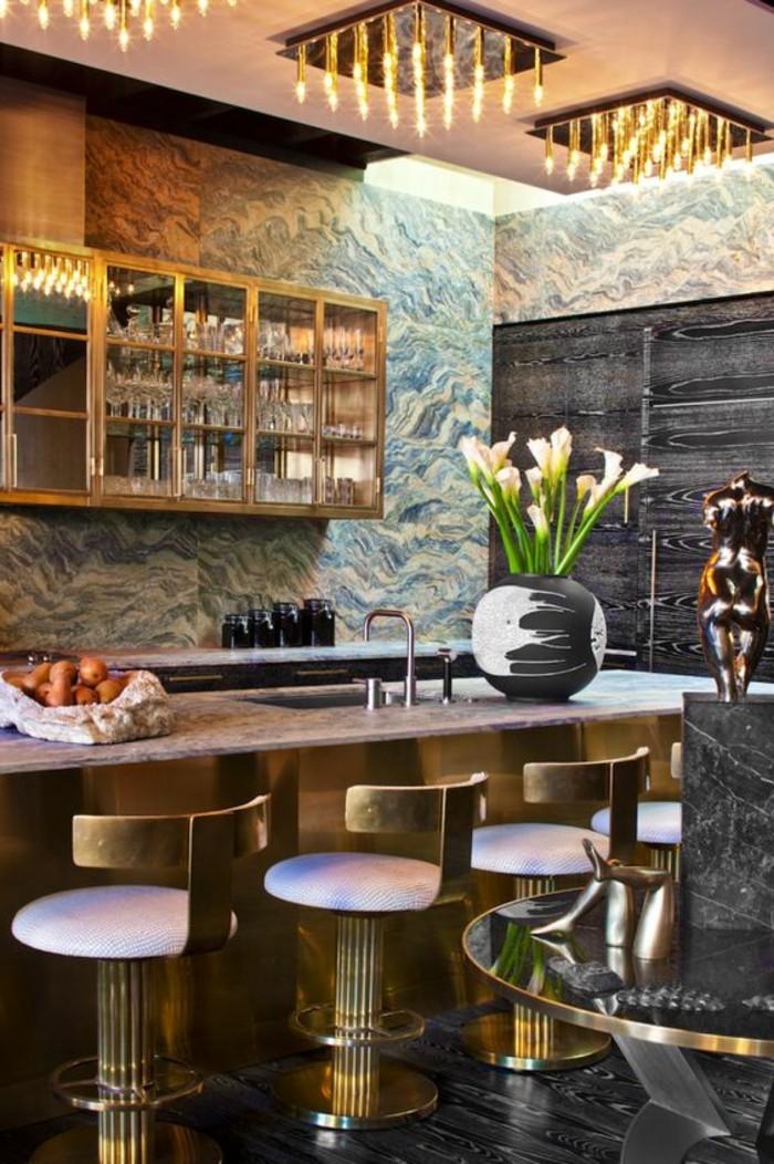 La chaise de cuisine moderne en 62 photos inspirantes for Petit bar de cuisine
