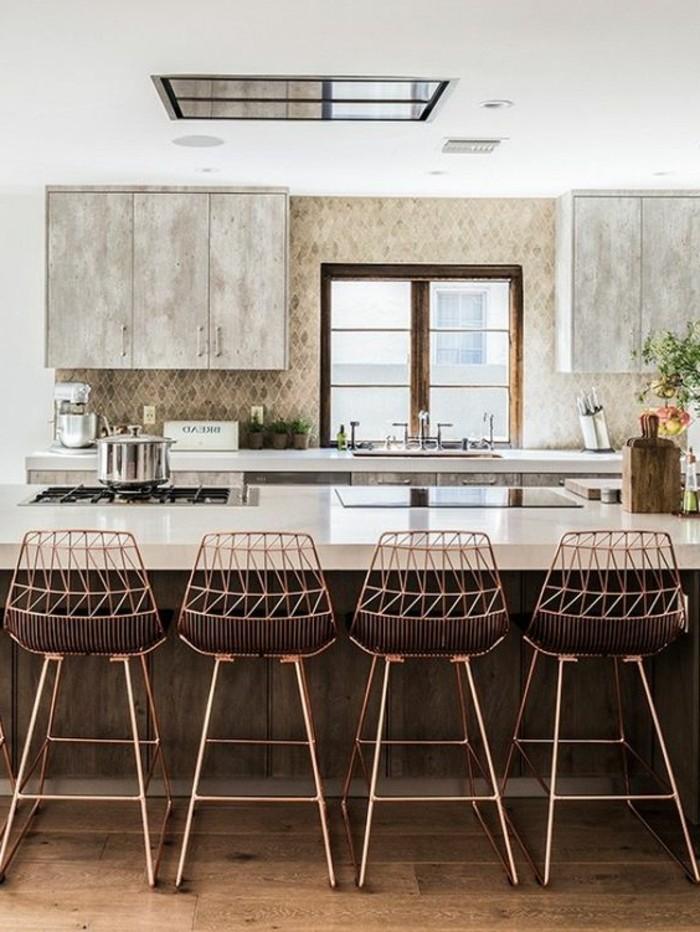 La chaise de cuisine moderne en 62 photos inspirantes for Cuisine moderne dans l ancien