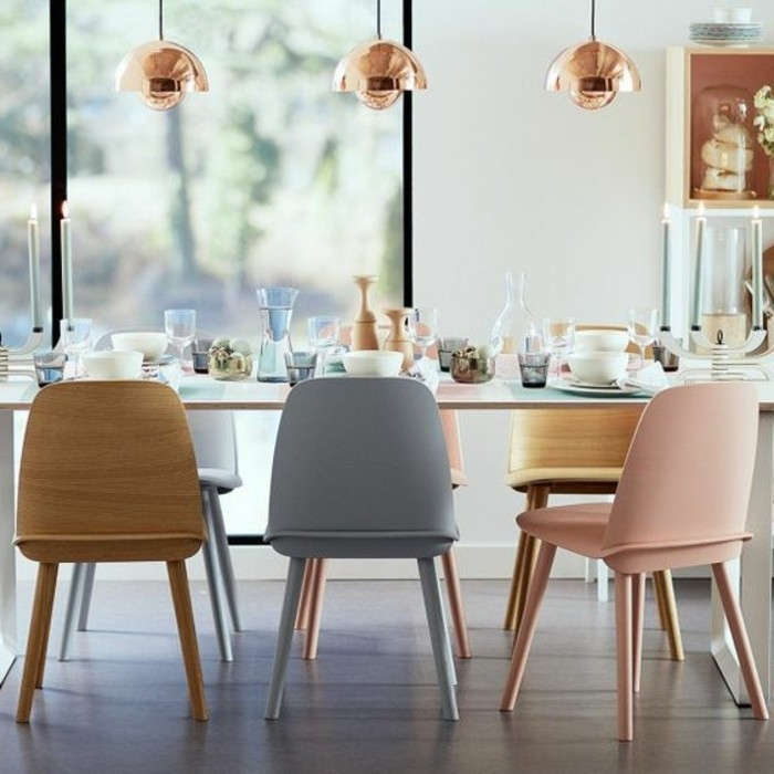 La chaise de cuisine moderne en 62 photos inspirantes for Chaise moderne couleur