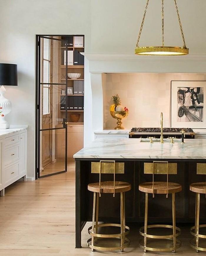 La chaise de cuisine moderne en 62 photos inspirantes for Plafonnier de cuisine moderne