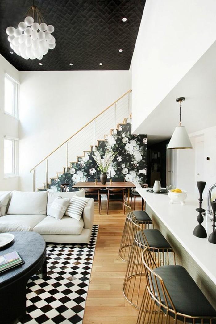 chaise-de-cuisine-moderne-chaises-grises-de-bar