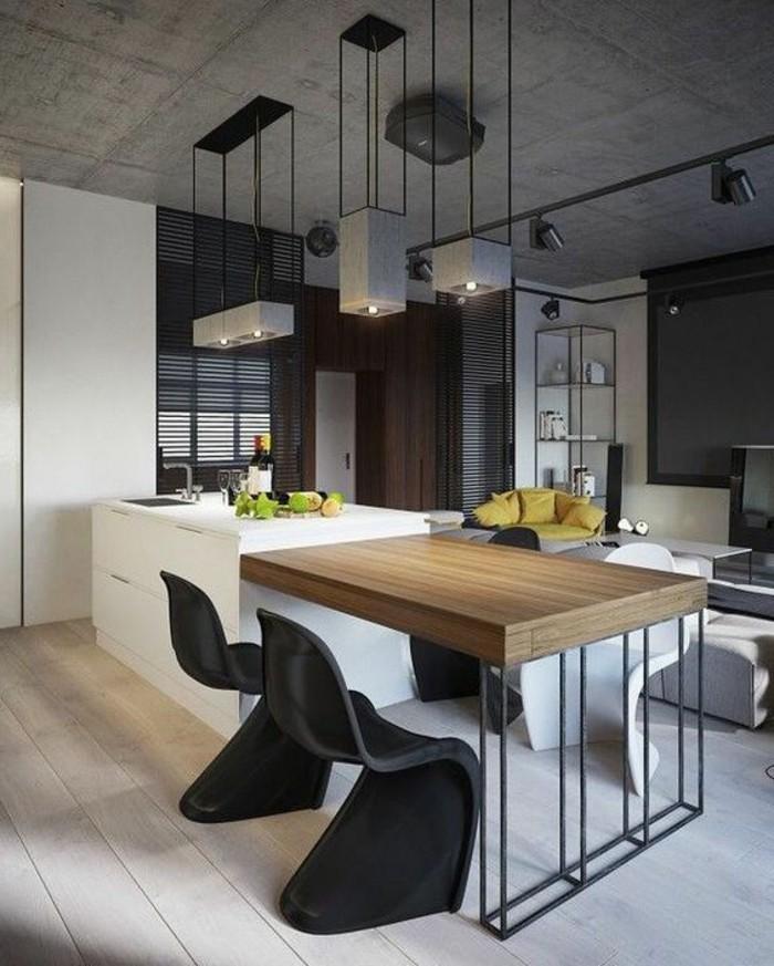 chaise-de-cuisine-moderne-chaises-panthon-noires