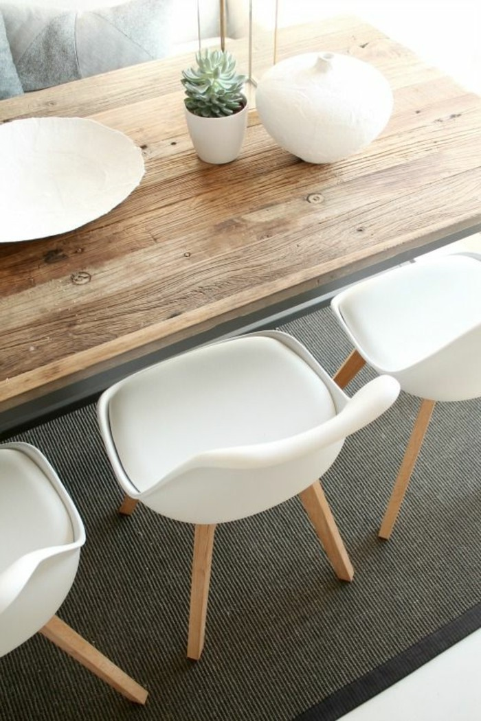 La chaise de cuisine moderne en 62 photos inspirantes for Table chaise bois