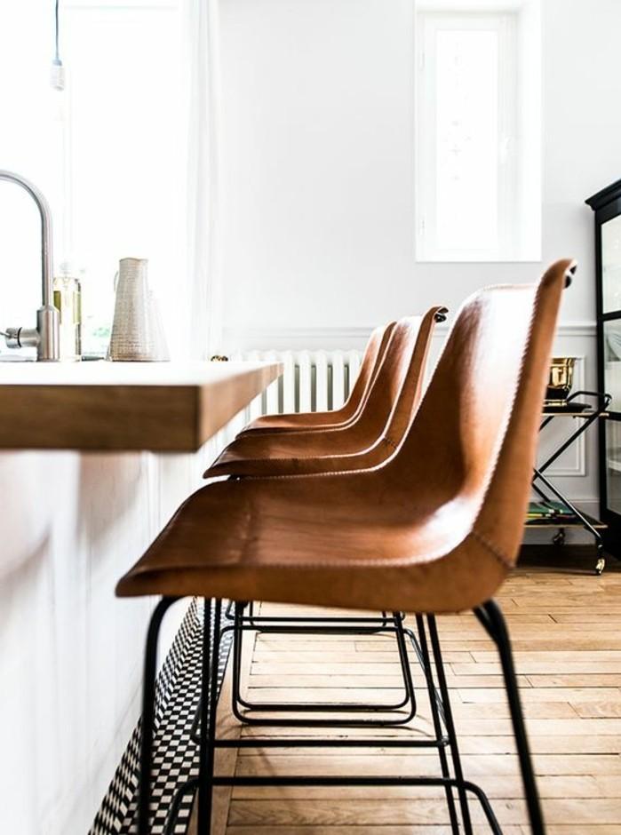 chaise-de-cuisine-moderne-couleur-marron-idees-cuisine