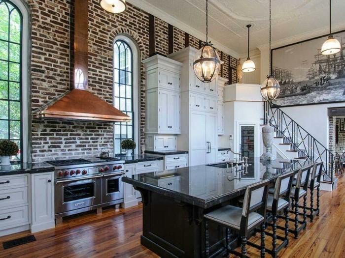 La chaise de cuisine moderne en 62 photos inspirantes - Cuisine style usine ...