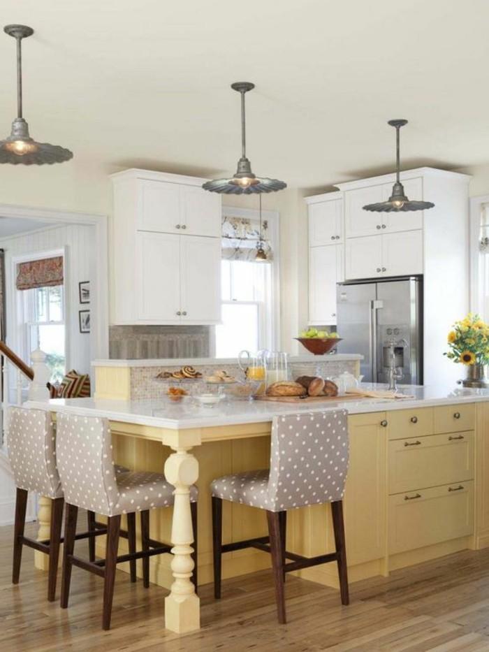 chaise-de-cuisine-moderne-equipement-cuisine-blanche