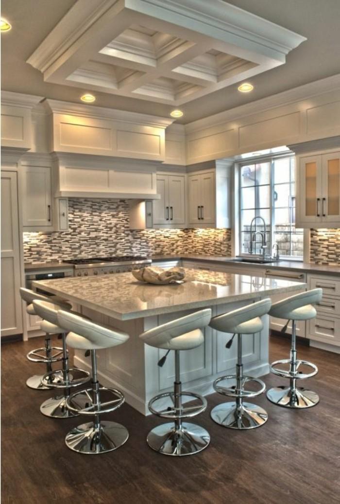 chaise-de-cuisine-moderne-ilot-de-cuisine-carre-chaises-de-bar