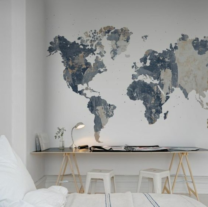 le poster carte du monde g ante vous donne envie voyager. Black Bedroom Furniture Sets. Home Design Ideas