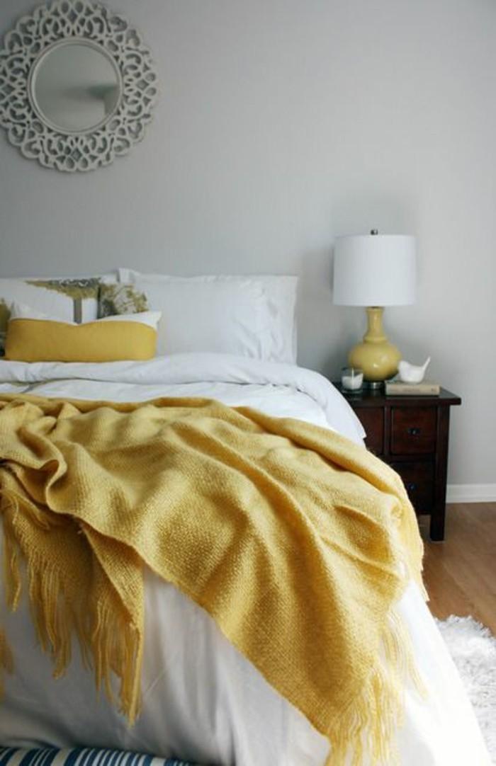 chambre a coucher design scandinave elements deco jaune