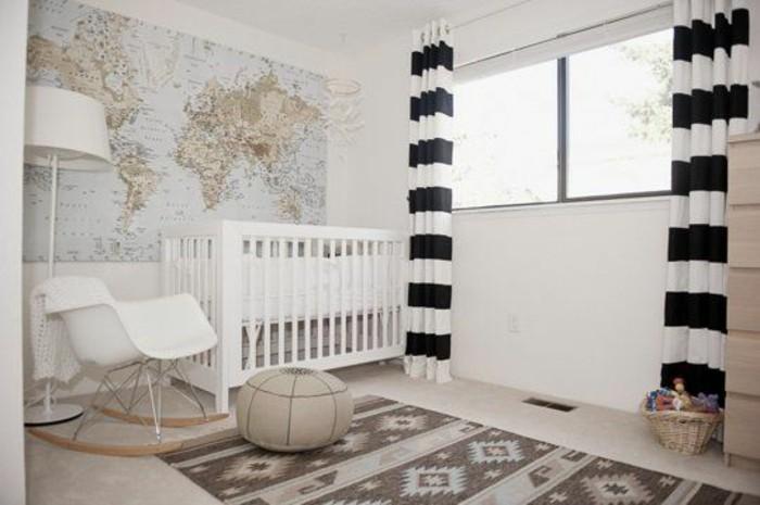 chambre-enfant-lumineuse-lit-a-barreaux-tapis-scandinave-carte-du-monde-murale