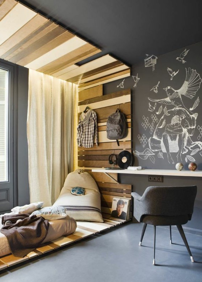 La chambre moderne ado 61 int rieurs pour filles et pour - Petit canape pour chambre ado ...