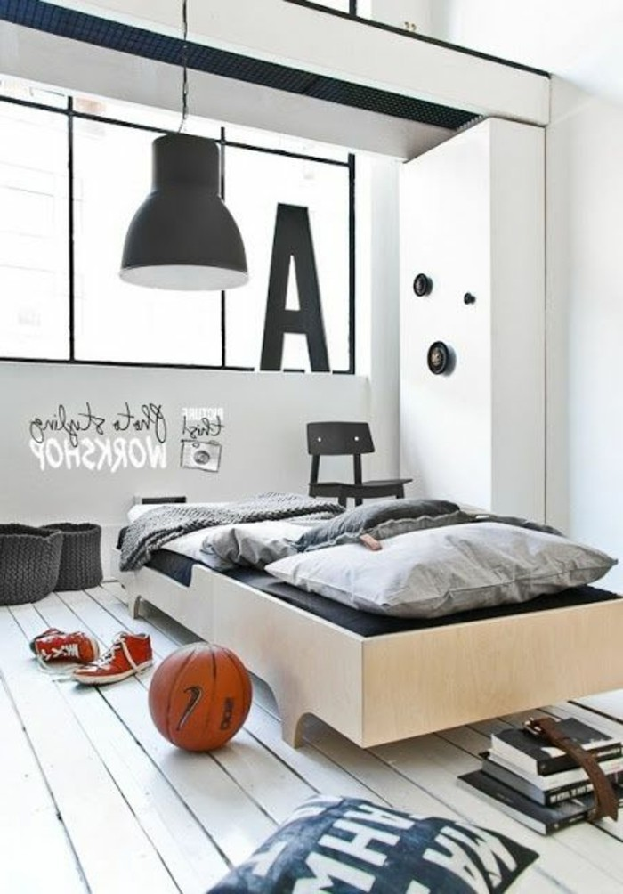 chambre ado gars. Black Bedroom Furniture Sets. Home Design Ideas