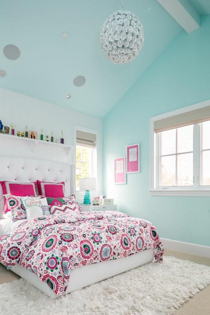 chambre-moderne-ado-idee-chambre-ado-fille-peinture-bleue