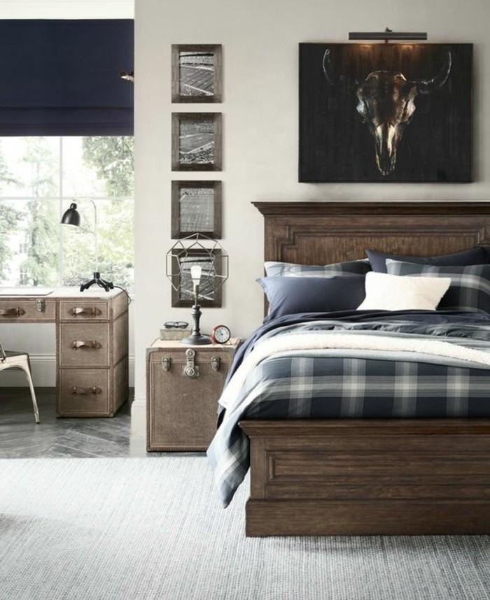 Chambre ado neutre id es de d coration et de mobilier - Lit et bureau ado ...