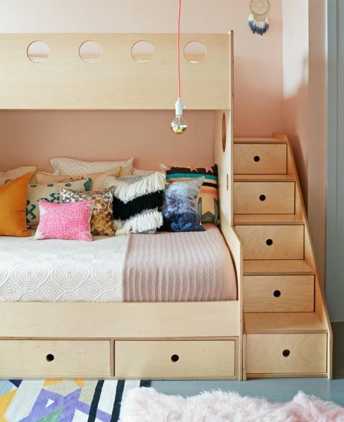 La chambre moderne ado 61 int rieurs pour filles et pour gar ons - Lits superposes avec escalier ...