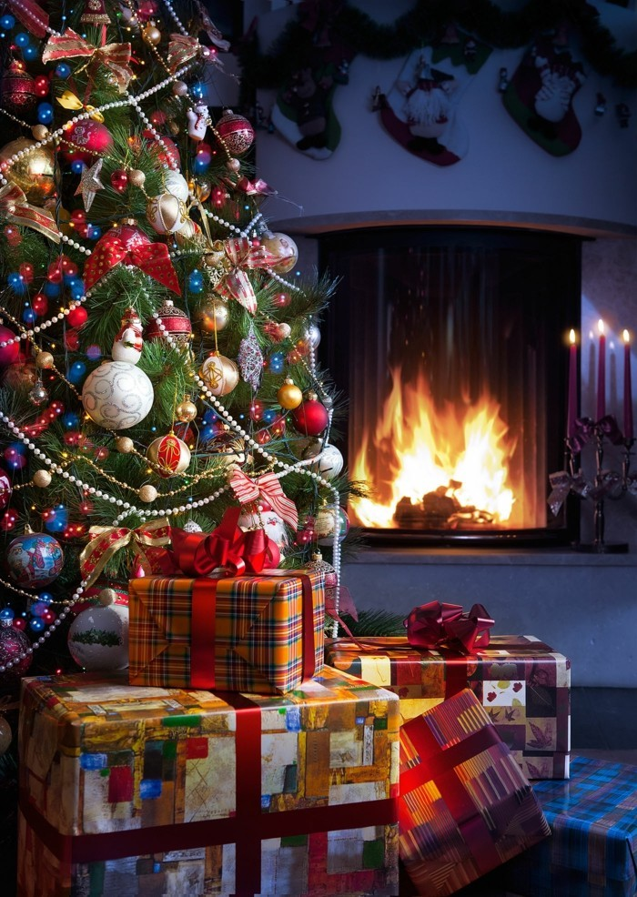 Trouvez la magie de la guirlande lumineuse de no l - Decoration de noel cheminee ...