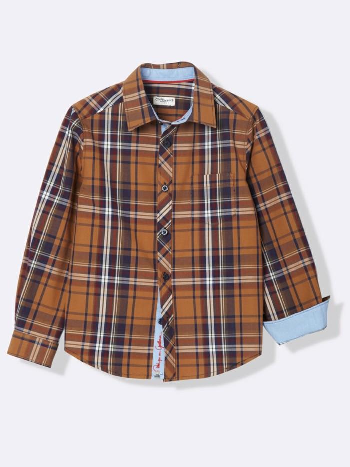 chemise-a-carreaux-enfant-cyrillus-en-marron-resized