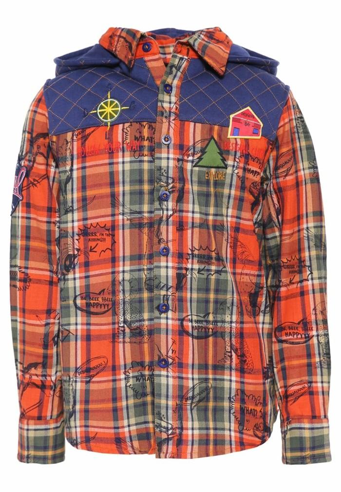 chemise-a-carreaux-enfant-desigual-rojonanja-orangee-avec-des-inscriptions-style-grafitti-resized