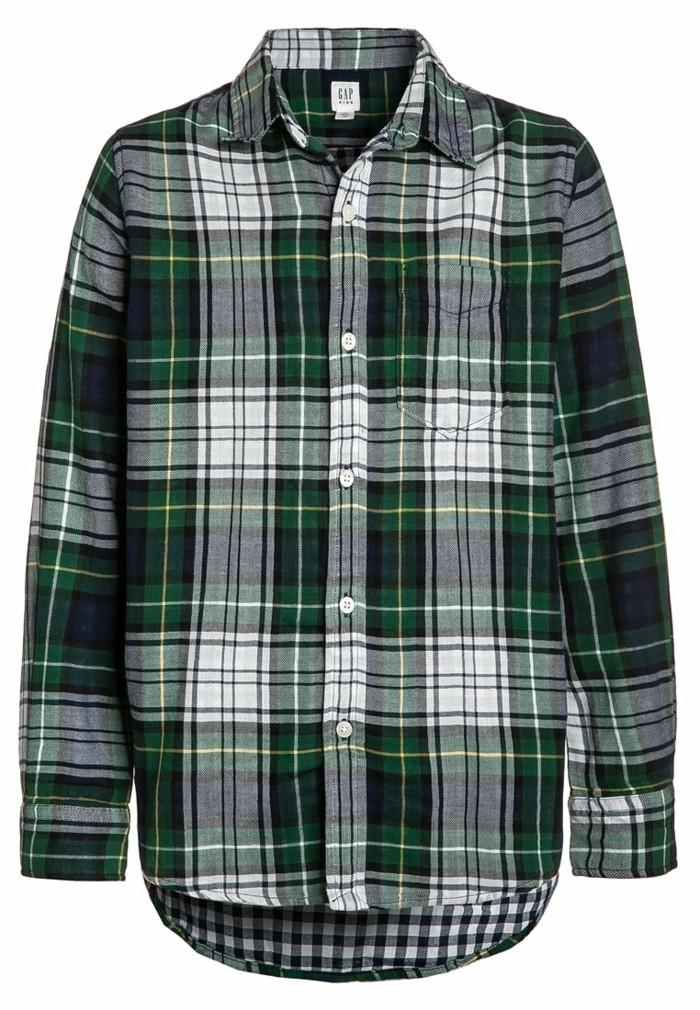 chemise-a-carreaux-enfant-gap-chez-zalando-en-vert-et-gris-resized