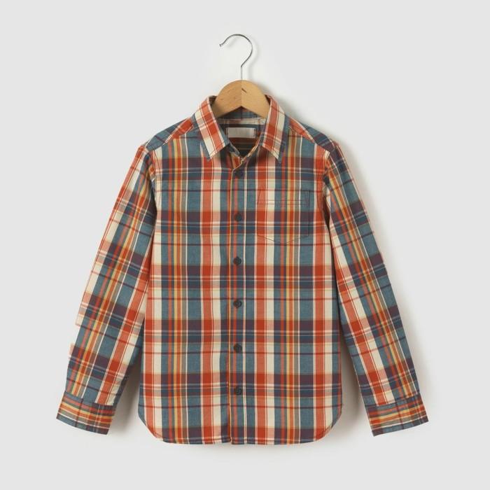 chemise-a-carreaux-enfant-la-redoute-en-orange-et-noir-resized