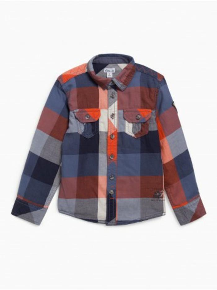 chemise-a-carreaux-enfant-avec-inscription-et-logo-en-bas-a-gauche-la-halle-resized