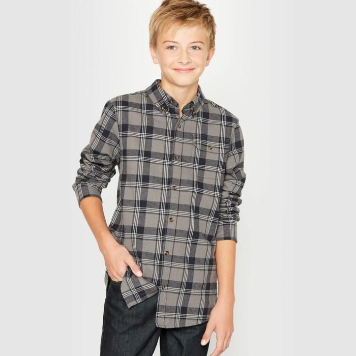 chemise-a-carreaux-enfant-de-10-a-16-ans-la-redoute-en-gris-resized