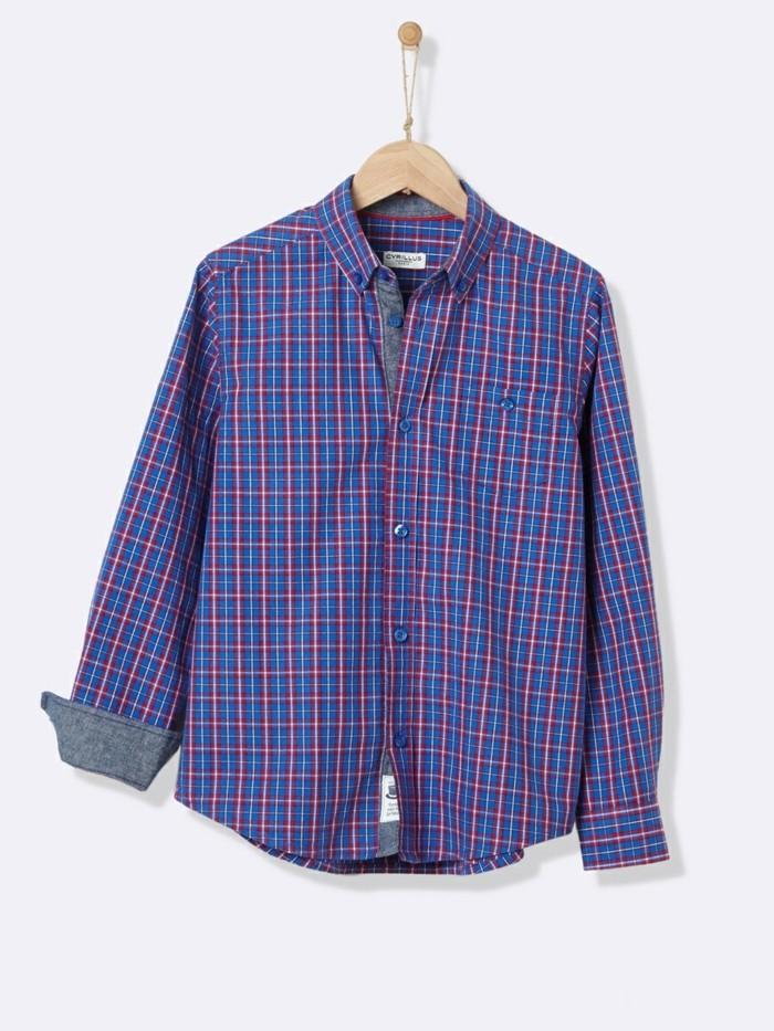 chemise-a-carreaux-enfant-en-bleu-et-jaune-cyrillus-resized