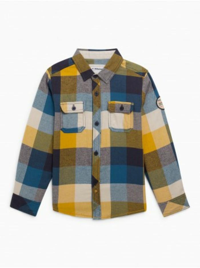 chemise-a-carreaux-enfant-en-coton-et-en-couleur-attractive-la-halle-resized