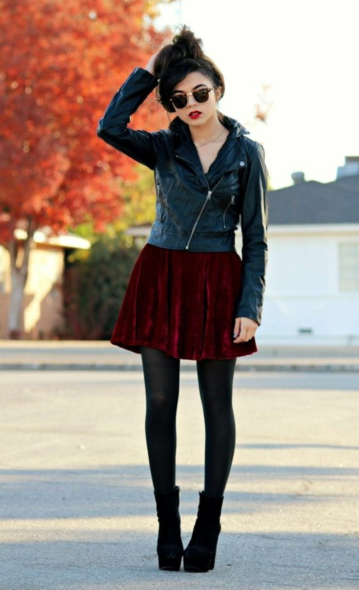 chic-hipster-veste-rock-cuir-robe-de-chambre-velours-robe-trapeze