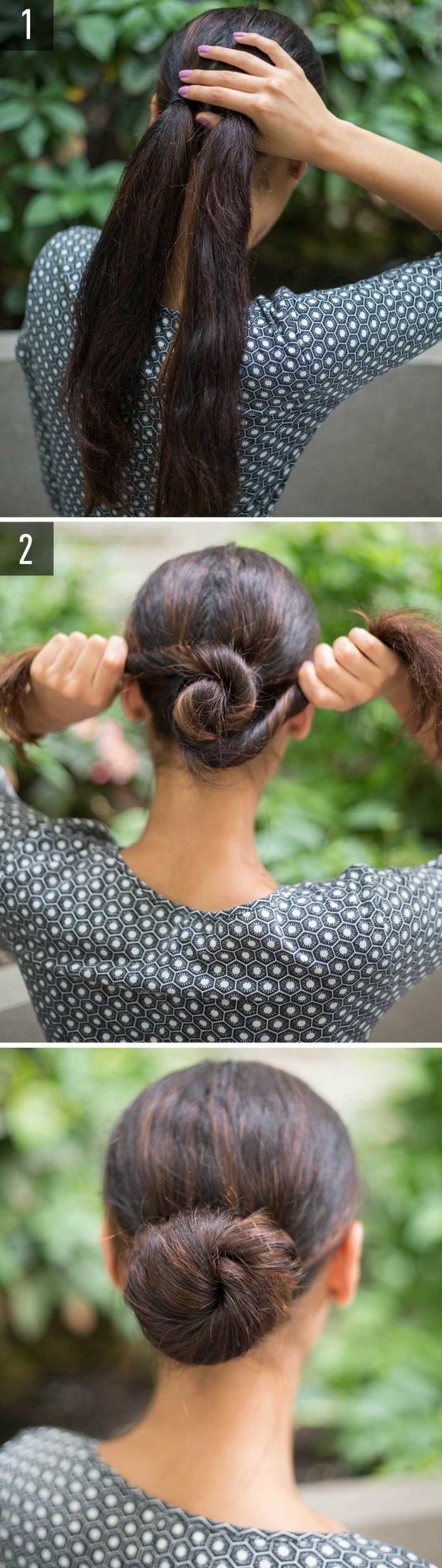 chignon-bas-facile-chignon-avec-deux-parties-des-cheveux
