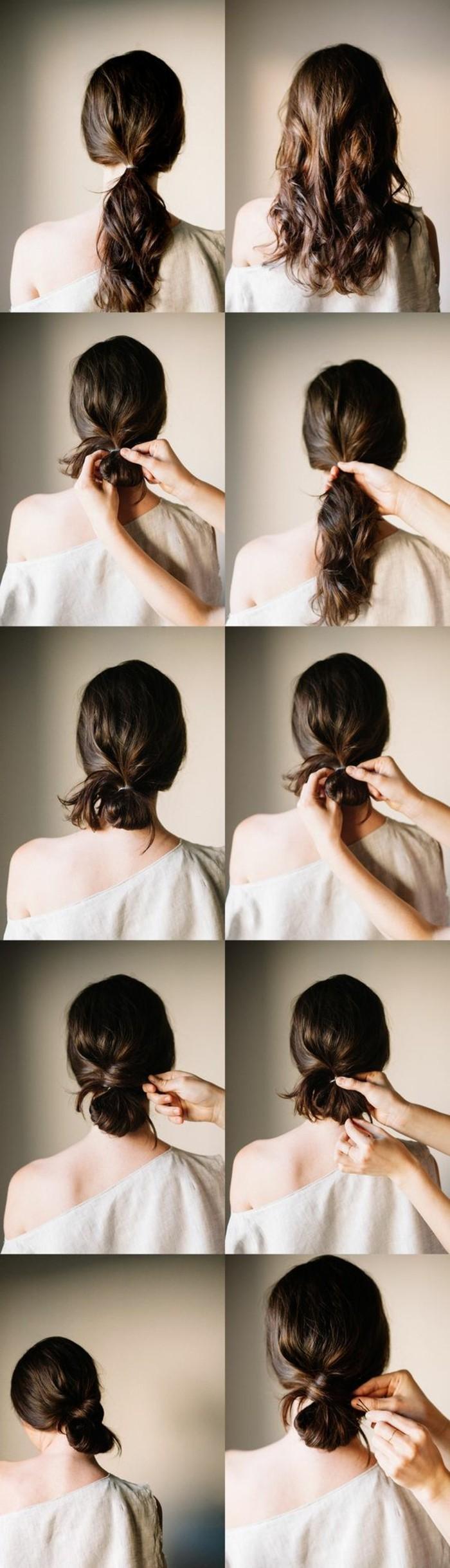 chignon-bas-facile-coiffure-facile-en-etapes-faciles