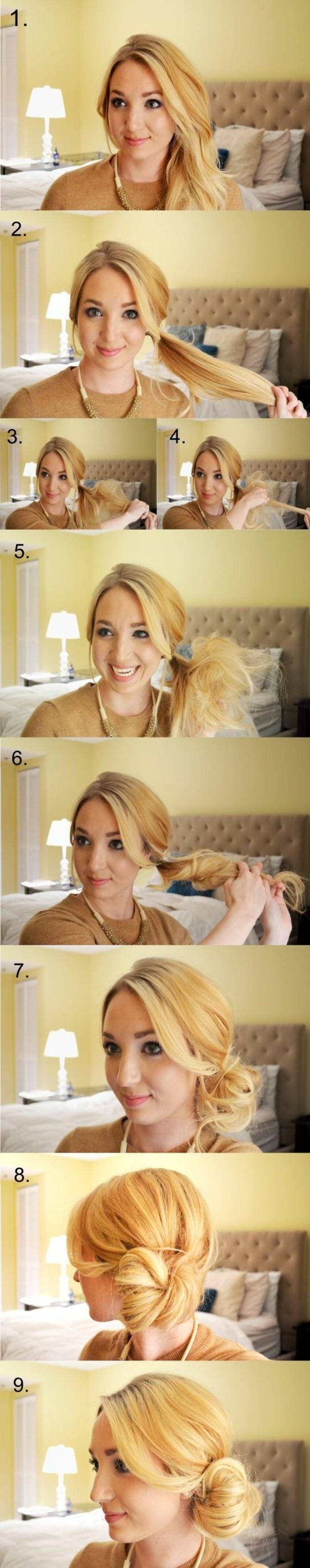 chignon-bas-facile-tuto-coiffure-facile-cheveux-longs